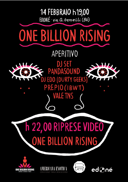 Flyer One Billion Rising Bergamo