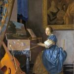 Johannes Vermeer, Giovane donna seduta a un virginale, 1670/72 ca